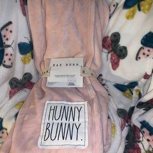 Rae Dunn hunny bunny PINK THROW/ blanket